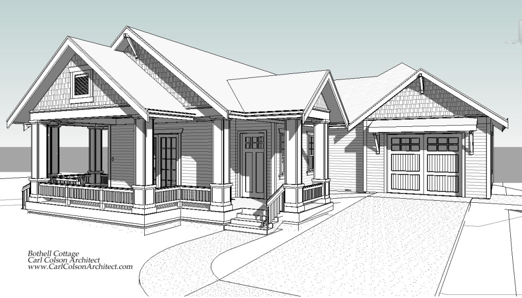 Bothell Cottage Accessory Dwelling Unit Perspective 3