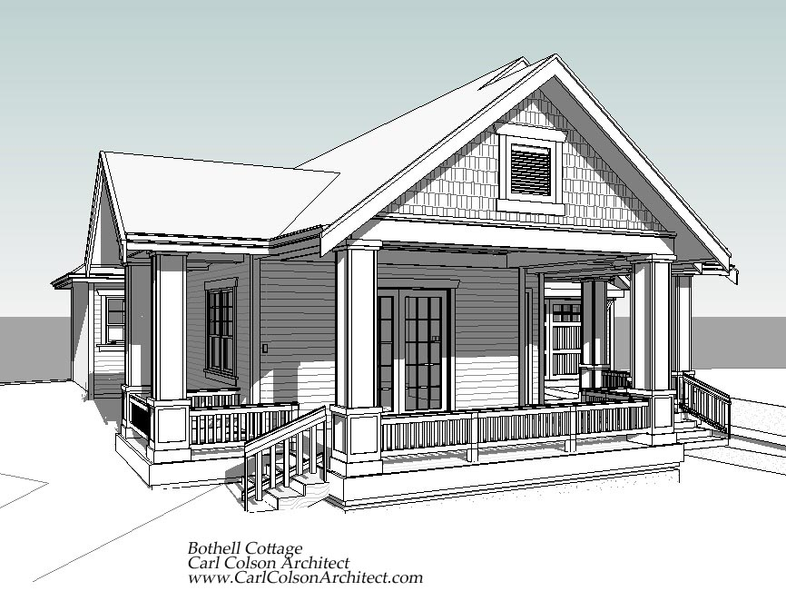 Adu cottage creating the design drawings carl colson for Accessory house