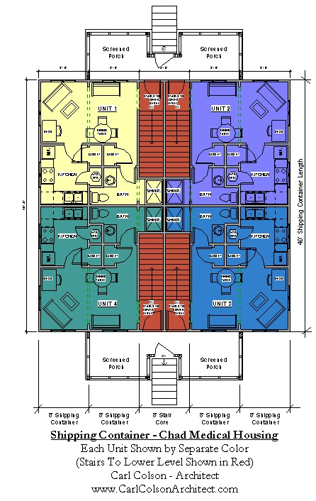 Shipping Containers - Chad Medical Housing Diagram
