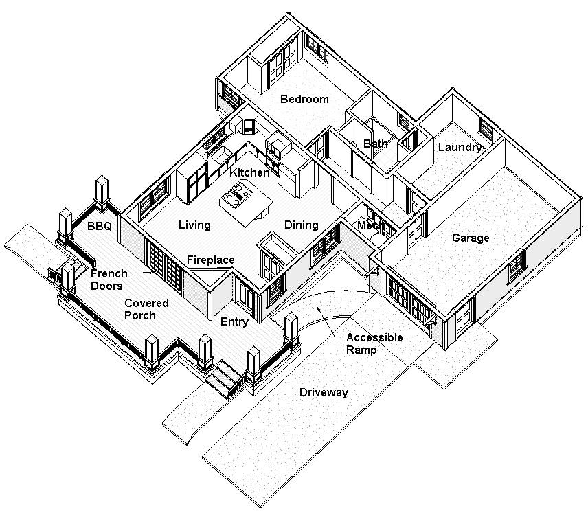 ADU cottage plan