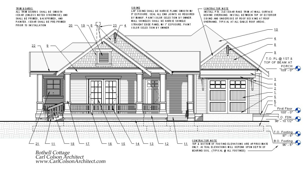 Bothell Cottage Accessory Dwelling Unit Elevation 1
