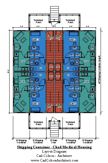Shipping Containers - Chad Medical Housing Layout Diagram