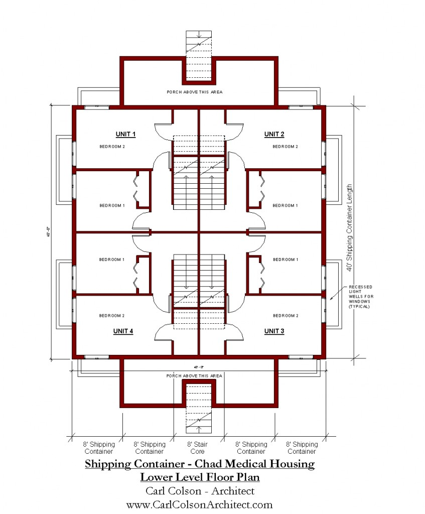 Shipping Containers - Chad Medical Housing Lower Level Floorplan